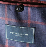 Peter Millar Collection – Blue Wool/Linen/Silk Blazer w/Red Windowpane - PEURIST