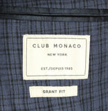 Club Monaco - Dark Blue Linen Blazer w/Navy Plaid - PEURIST