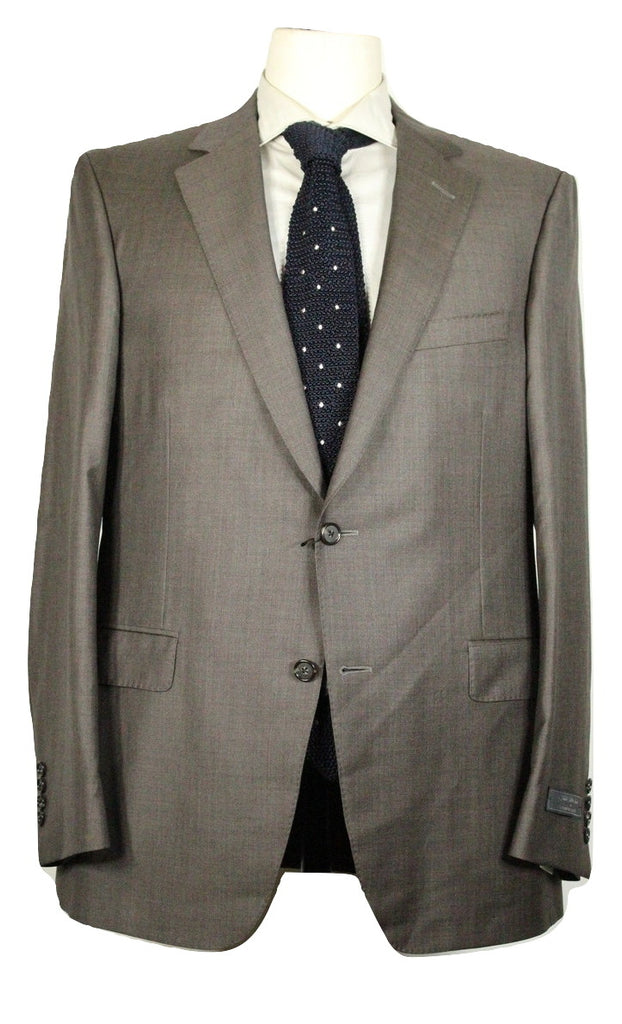 Samuelsohn for Saks Fifth Avenue – Brown Wool Suit - PEURIST