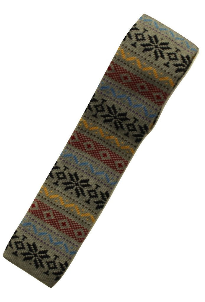 Drake's – Gray Wool Fair-Isle Knit Tie - PEURIST