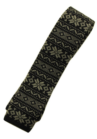 Drake's – Navy Wool Fair-Isle Knit Tie - PEURIST