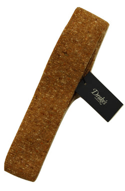 Drake's – Camel Wool/Cashmere Donegal Tweed Tie - PEURIST