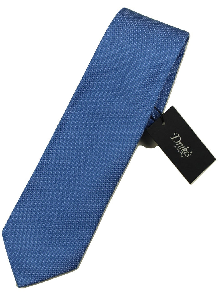 Drake's – Light Blue Micro Dot Tie - PEURIST