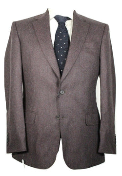 Gieves & Hawkes – Purple & Gray Tweed Wool Blazer - PEURIST