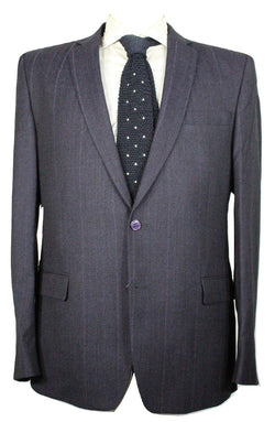 Versace – Purple Stripe Wool Suit - PEURIST