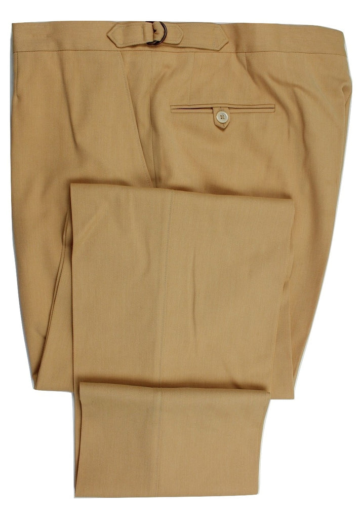 Paul Stuart – Yellow Ochre Wool/Cotton Pants - PEURIST