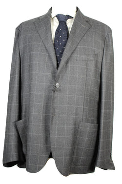 Corneliani ID – Charcoal Windowpane Blazer - PEURIST