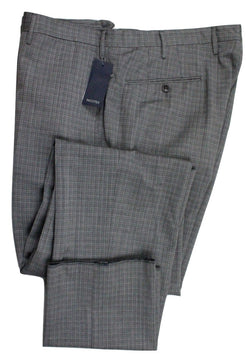 Incotex – Variegated Gray Check Wool Pants - PEURIST