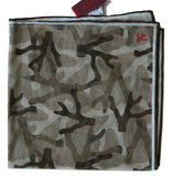 Isaia – Brown Camo Print Pocket Square - PEURIST