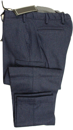 Vigano – Blue Wool Flannel Cargo Pant - PEURIST