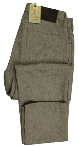 20050 by Vigano – Light Gray Wool Flannel 5-Pocket Pants - PEURIST