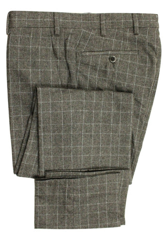 Vigano – Gray Flannel Pants w/Charcoal POW Pattern - PEURIST