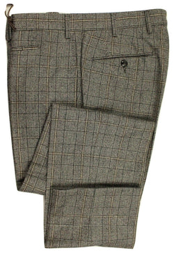 Vigano – Gray POW Flannel Pants w/Brown Check - PEURIST