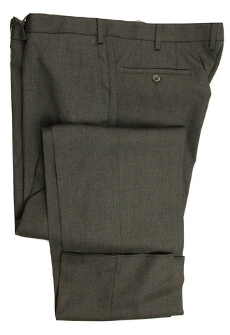 Vigano – Charcoal Gray Hopsack Wool Pants - PEURIST