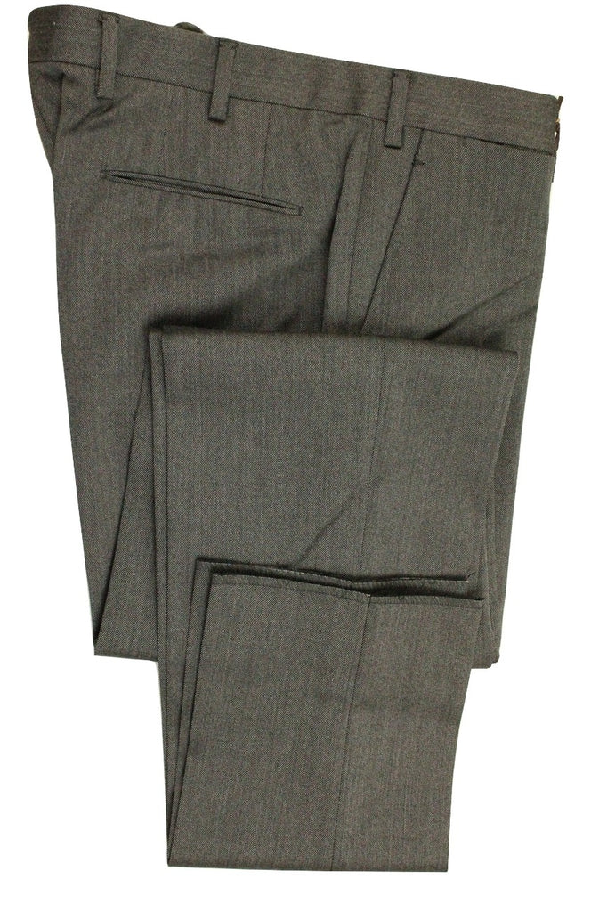 Vigano – Gray Worsted Wool Pants - PEURIST