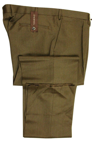 Vigano – Medium Brown Heavy Worsted Wool Pants - PEURIST