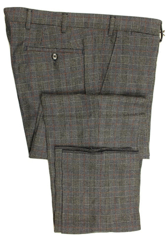 Vigano – Blue Wool Blend Flannel Pants w/POW Check - PEURIST