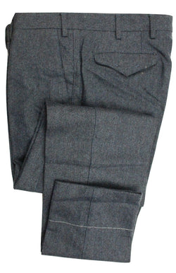 Vigano – Blue Wool Blend Flannel Cargo Pants - PEURIST
