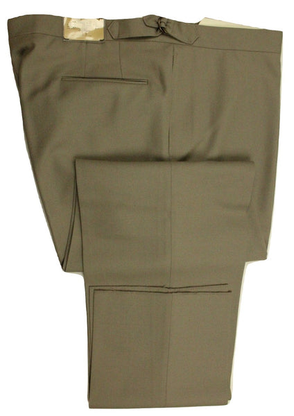 Paul Stuart – Taupe Wool Twill Pants - PEURIST