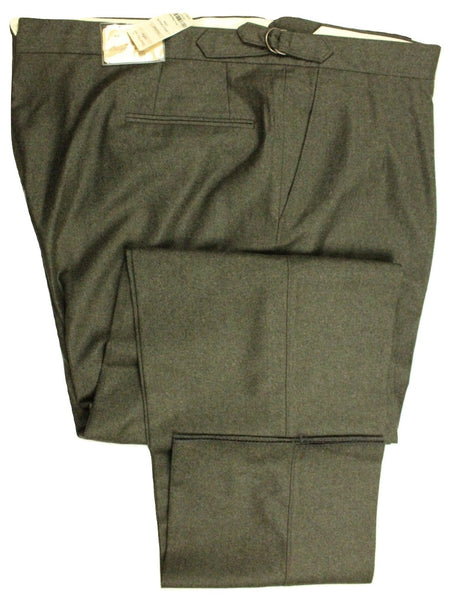 Paul Stuart – Forest Green Wool/Cashmere Flannel Pants - PEURIST