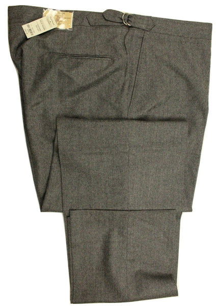 Paul Stuart – Gray Wool Flannel Pants - PEURIST