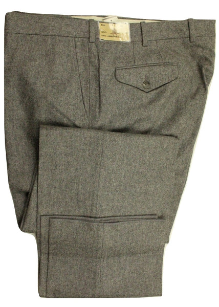 Paul Stuart – Light Gray Wool Flannel Pants - PEURIST