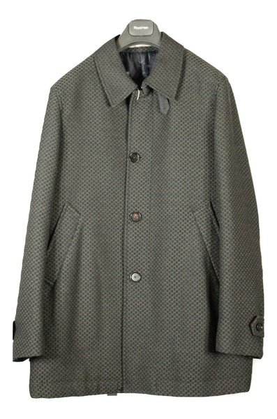 Paoloni – Dark Green Wool Knit Coat - PEURIST