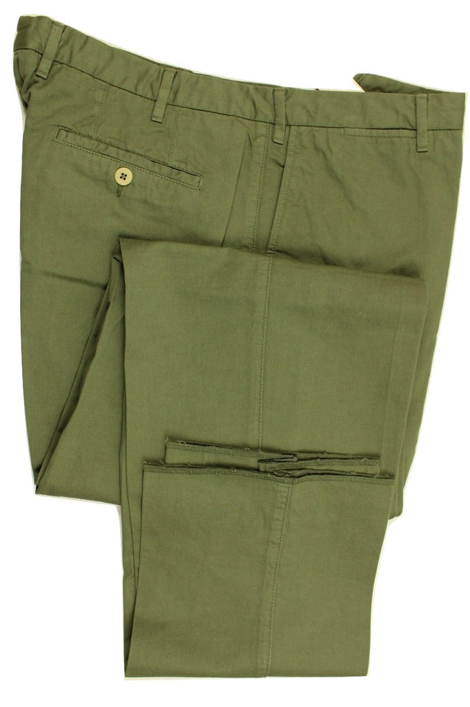Paul Stuart – Green Linen/Cotton Pants - PEURIST