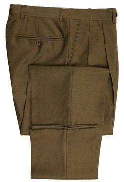 Santorelli – Brown Four-Season Wool Pants - PEURIST