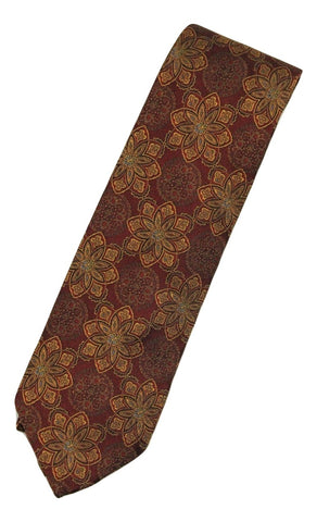 Paul Stuart – Rust Silk Tie w/Dark Orange Madder Print - PEURIST