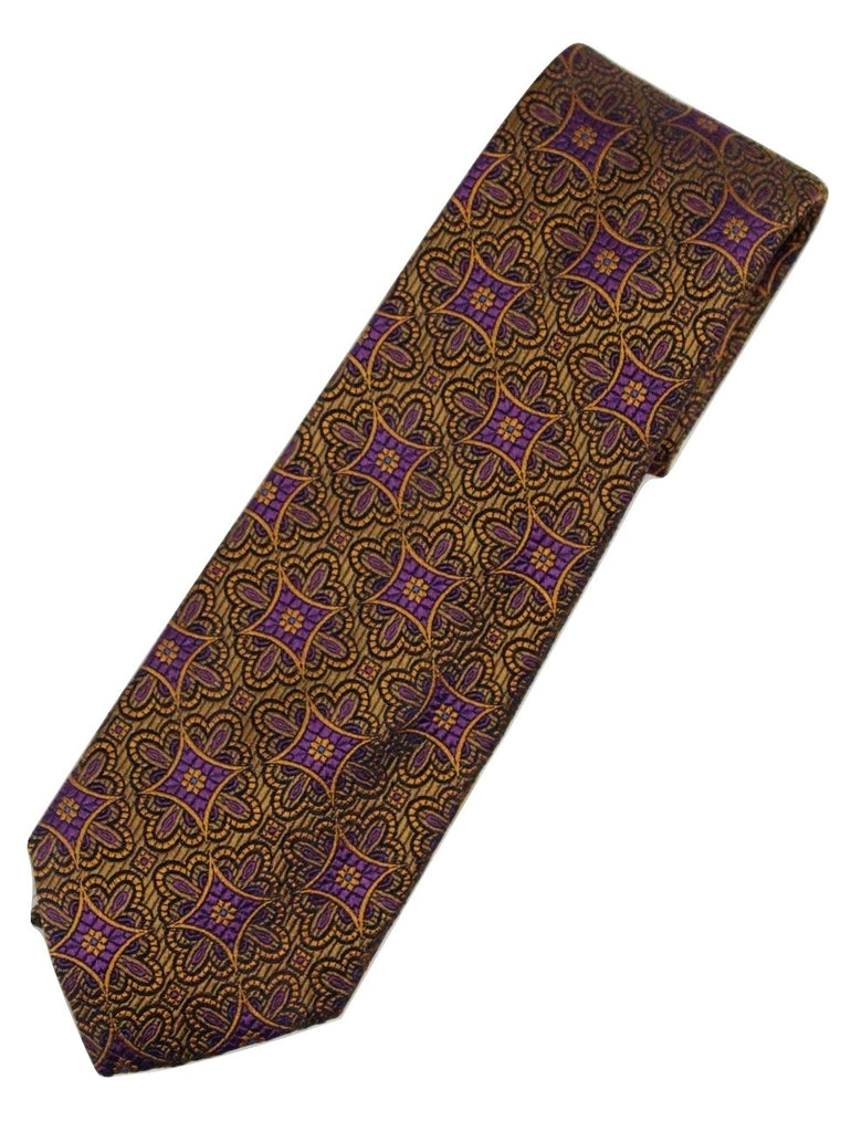 Paul Stuart – Orange Tie w/Purple Madder Pattern - PEURIST