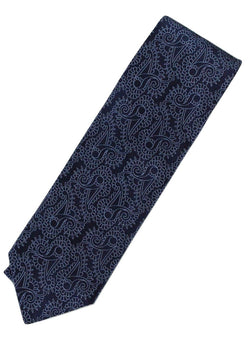 Paul Stuart – Navy Silk Tie w/Blue Madder Pattern - PEURIST