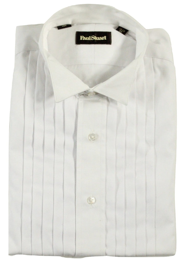 Paul Stuart - Wing Collar Pleated Tuxedo Shirt w/French Cuffs - PEURIST