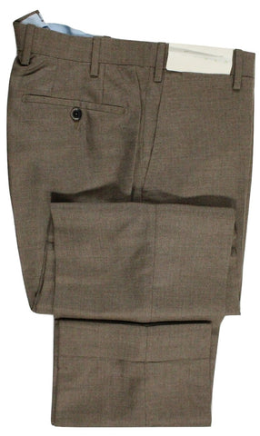 Tavola by Vigano – Coffee Brown Hopsack Cashmere Pants - PEURIST