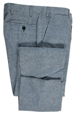 Vigano – Light Blue Wool Tweed Pants - PEURIST