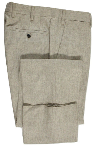 Vigano – Cream/Brown Wool Flannel Pants