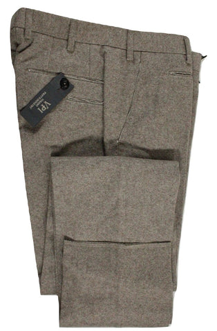Vigano – Light Brown Wool Tweed Pants - PEURIST