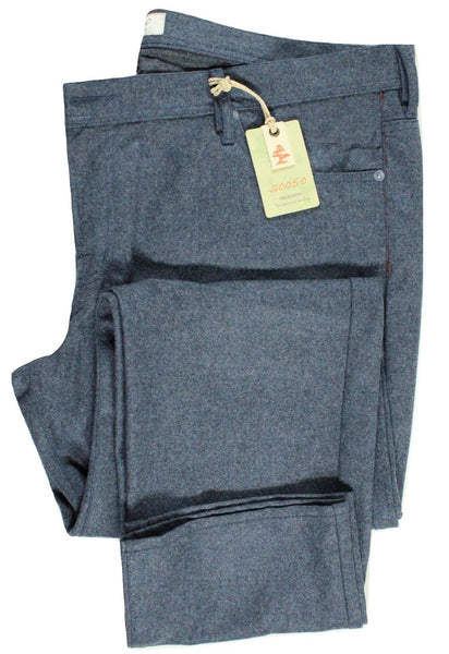 20050 by Vigano – Blue Five Pocket Wool Flannel Pants - PEURIST