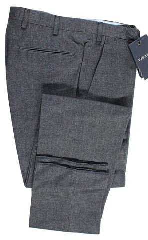 Vigano – Navy Twill Wool/Cotton Flannel Pants - PEURIST