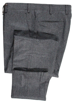 Vigano – Dark Gray Wool Flannel Pants - PEURIST