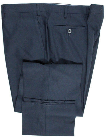 Covo & Covo by Vigano – Navy Hopsack Wool Pants - PEURIST