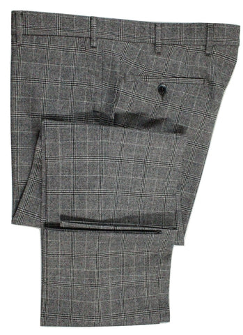 Tavola by Vigano – Dark Gray & White Plaid Wool Flannel Pants - PEURIST