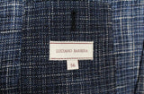 Luciano Barbera – Blue Wool/Linen Blend Tweed-Style Blazer - PEURIST
