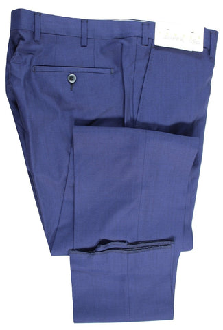 Tavola by Vigano – Royal Blue Four-Season Wool Pants, Super 150's - PEURIST