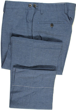 Tavola by Vigano – Blue Wool/Linen/Silk Pants - PEURIST