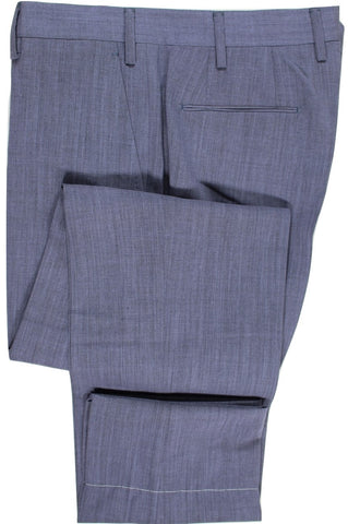 Tavola by Vigano – Blue-Gray Lightweight Wool Pants - PEURIST