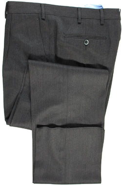 Covo & Covo by Vigano – Dark Gray Wool Twill Pants, Single Pleat - PEURIST