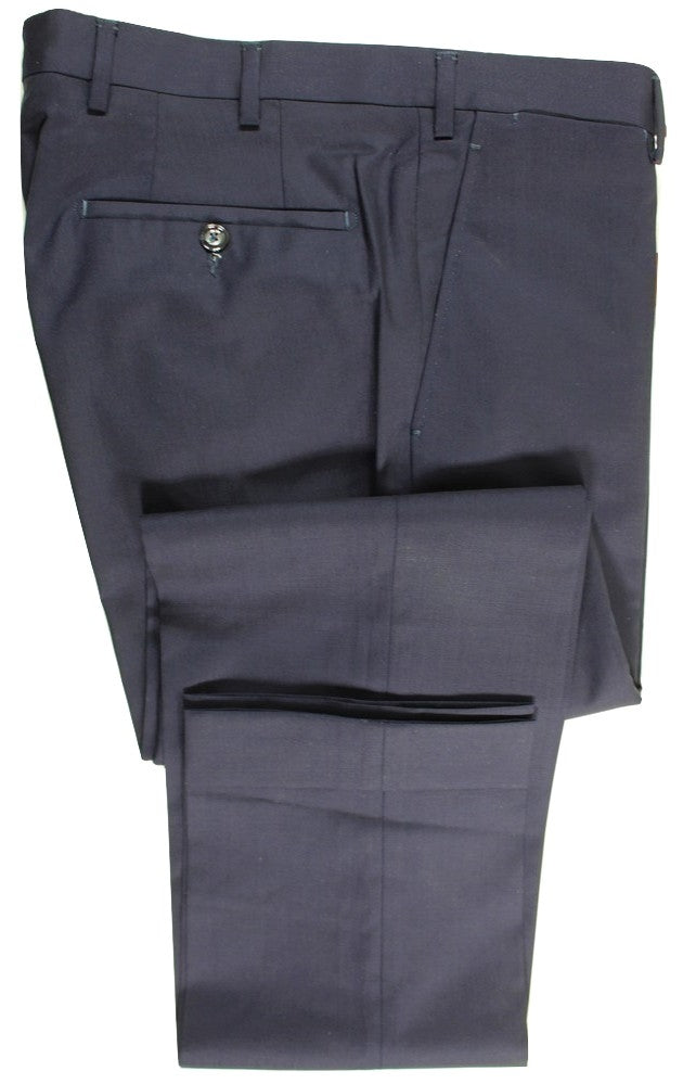 Vigano – Navy Four Season Wool Pants - PEURIST