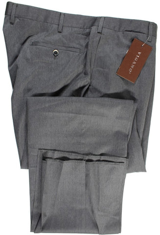 Vigano – Charcoal Gray Four Season Wool Pants - PEURIST
