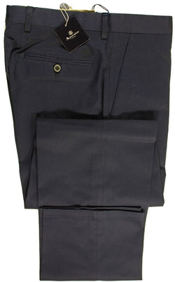 Aquascutum – Navy Cotton Twill Pants - PEURIST